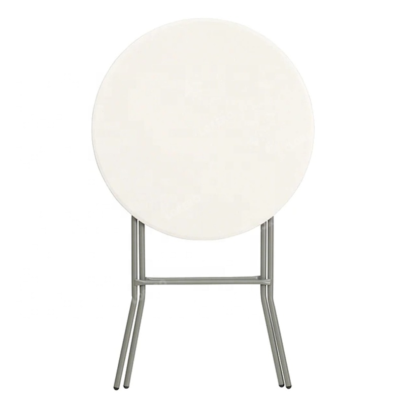 Cheap Outdoor Party bar Folding Plastic White Round Cocktail Table