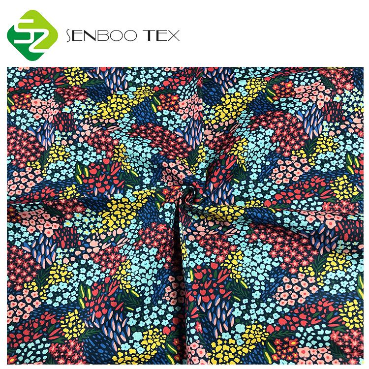 Органическая хлопковая цветочная ткань с цифровым принтом, плотность 90*88, вес 80 г/кв. М