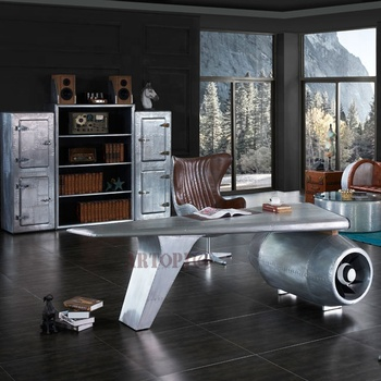 Customized Special Design Industrial Style Aluminum Table Study Office Furniture Boss Executive Desk