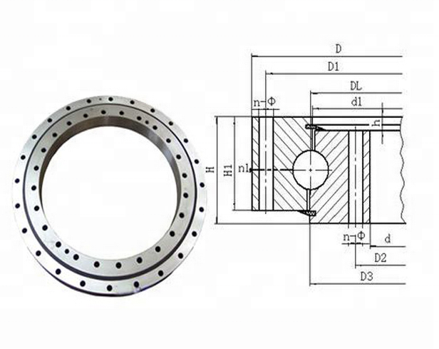 010.20.200 Rotary Table Slewing Bearing for wind turbine drives