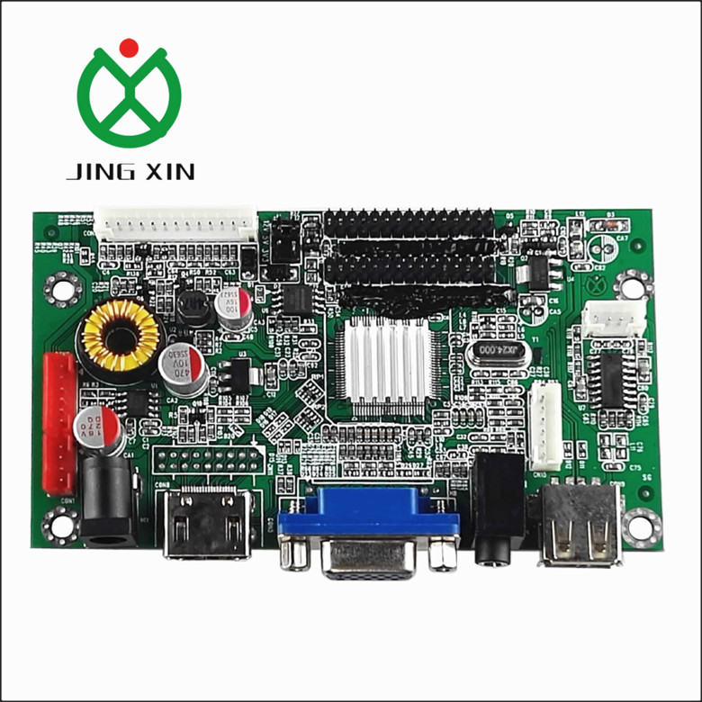 TFT LCD controller board support HD MI+VGA+USB+AV+Audio for 1920*1080 one board control 2 LVDS screen