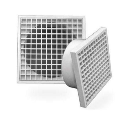 Fan Plastic Grill Square Ventilation Grilles
