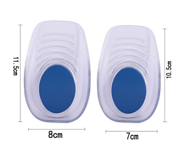 Силиконовая гелевая стелька для увеличения роста пятки в носке