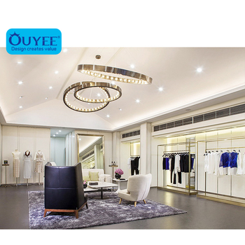 Fashion Metal Clothing Shop Decoration, New Style Garment Retail Shop Design Display Cabinet Store Furniture Design