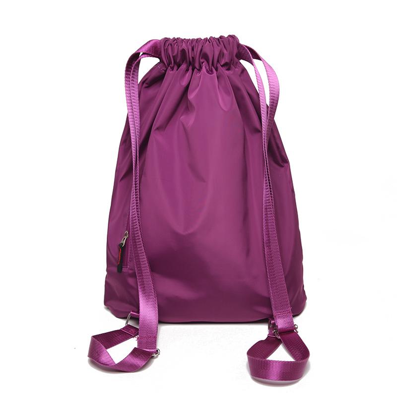 Aurora custom amazon popular men women waterproof nylon travel sport drawstring gym bag backpack