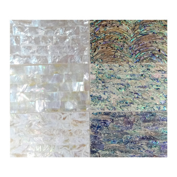 Shinny Black Mosaic Sheet Sheet Abalone/ White Shell Paper For Home Decoration/Crafts