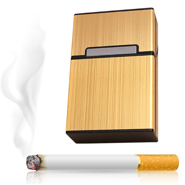 2019 креативный алюминиевый портсигар для курения, мужской портсигар, портсигар, металлический портсигар