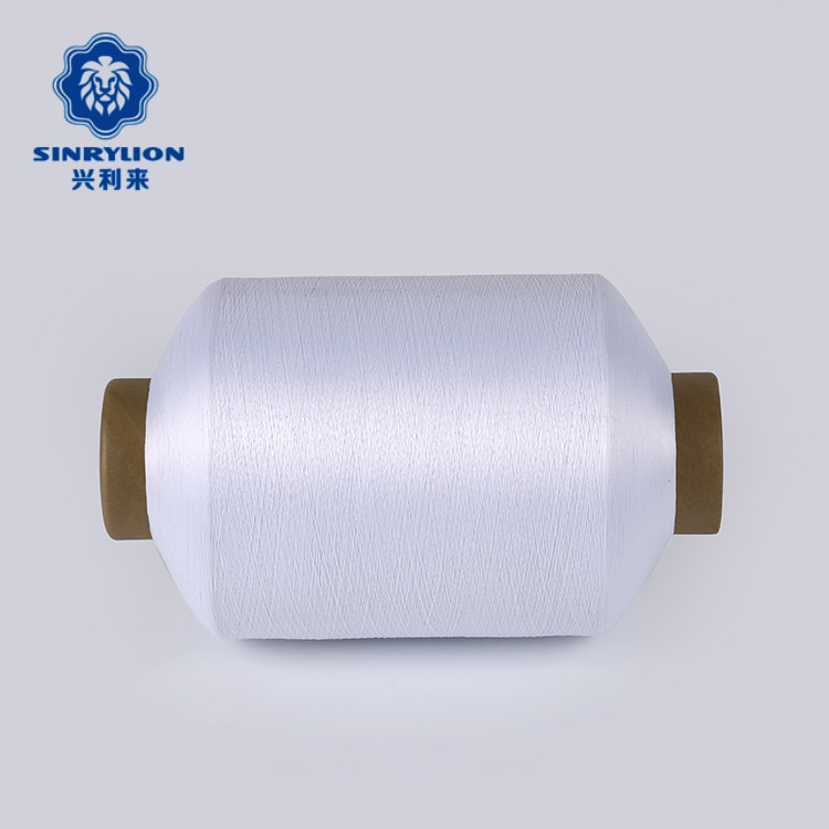 Factory Direct Sales 100D semi dull DTY optical white polyester twisted yarns for woven shoe upper