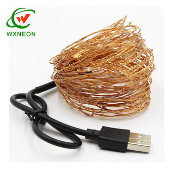 Waterproof Outdoor LED Fairy Light 5V 10M USB Copper Wire String Lights