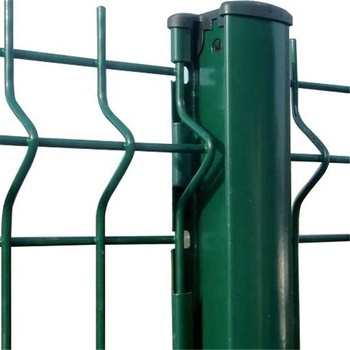 Factory Galvanised Fence Wire, Single Wire Mesh, Welded Mesh Fencing With Peach Post