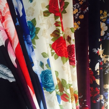 100% T chiffon printed fabric for dress and garment
