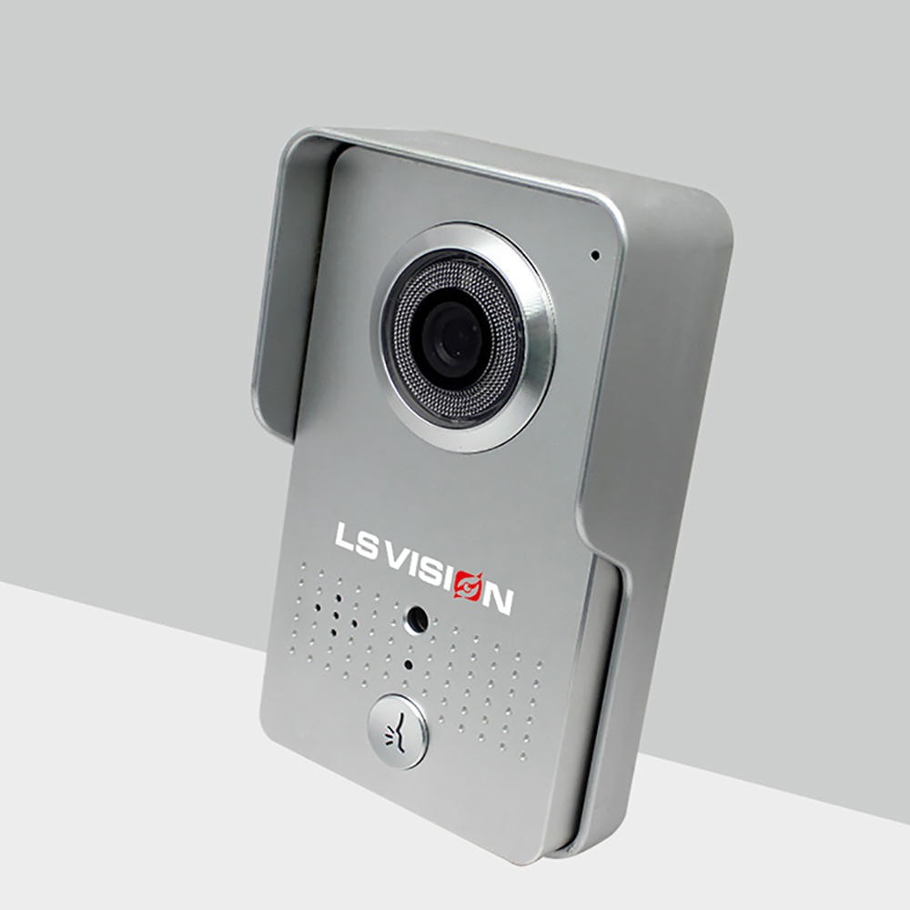 LS VISION PIR Motion Detection Alarm 720P TF Card Wifi Video Doorbell With LAN Support APP Remote Unlock