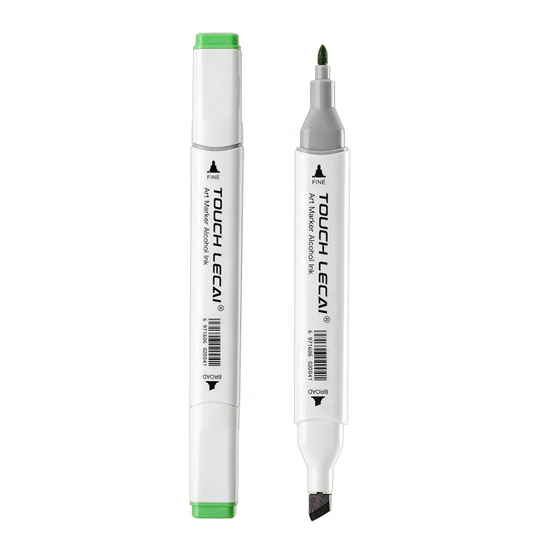 New Style 80 Colors Dual Tips Permanent Alcohol Drawing Marker Pen Packed in Bag Alcohol Marker Pen For Students