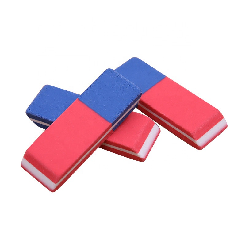 Custom logo promotional office stationery clean ink pen eraser for school students correction