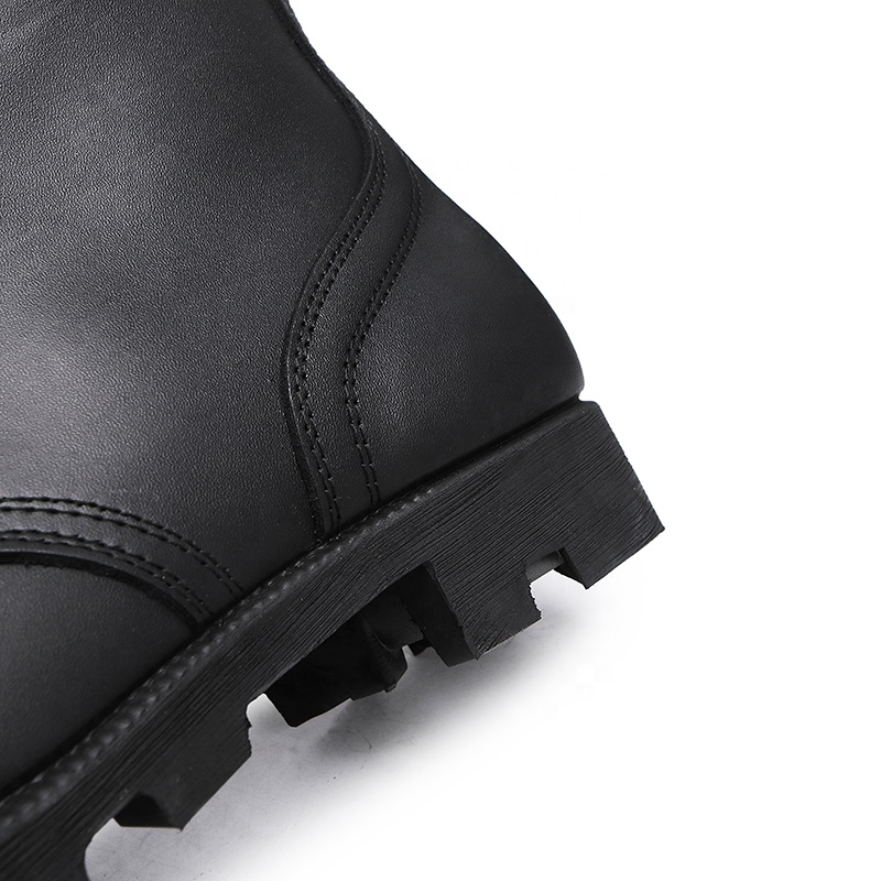 Custom Leather Waterproof Wear-Resist Rubber Outsole Tactical military Combat botas militares Army Men's boots