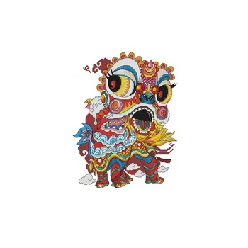 NKF Lion dance cross stitch for children Chinese vintage world of cross stitching C548