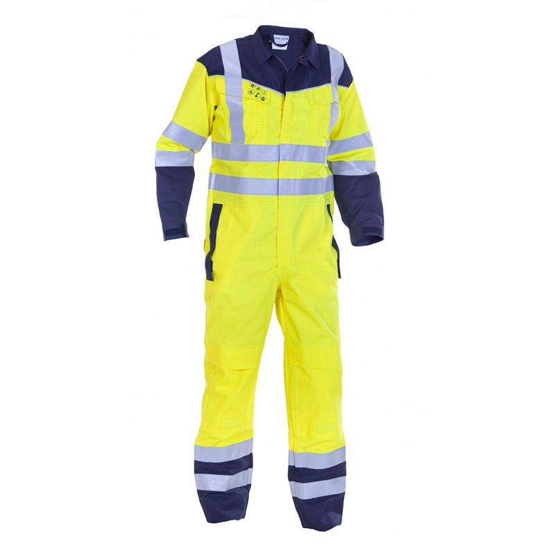 Safety Protection Workwear en340 100 cotton coverall men flame with knee pad