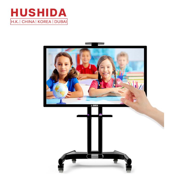 Hushida 65 inch 75inch 86 inch portable interactive touch screen smart white board