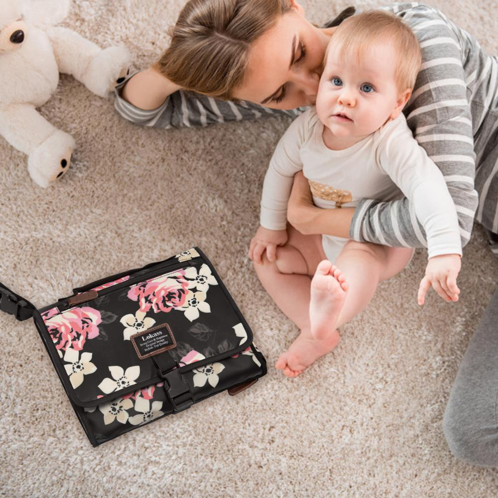 Portable Changing Pad Lightweight Travel Diaper Changing Clutch Bag Pad Clutch Baby Changing Pad Mat for Baby Diapering