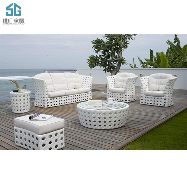 Элегантная садовая мебель на заказ, комплект уличных диванов из ротанга