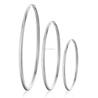 Jewelry Hoop Women Earring Loftily Wholesale Fashion Jewelry Simple Plain Blank Big Hoop Silver Women Big Earrings