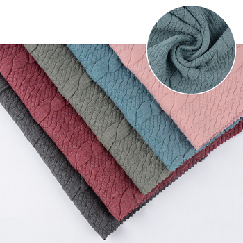 Twist thick TR quilted jacket fabric for garment from keqiao shaoxing
