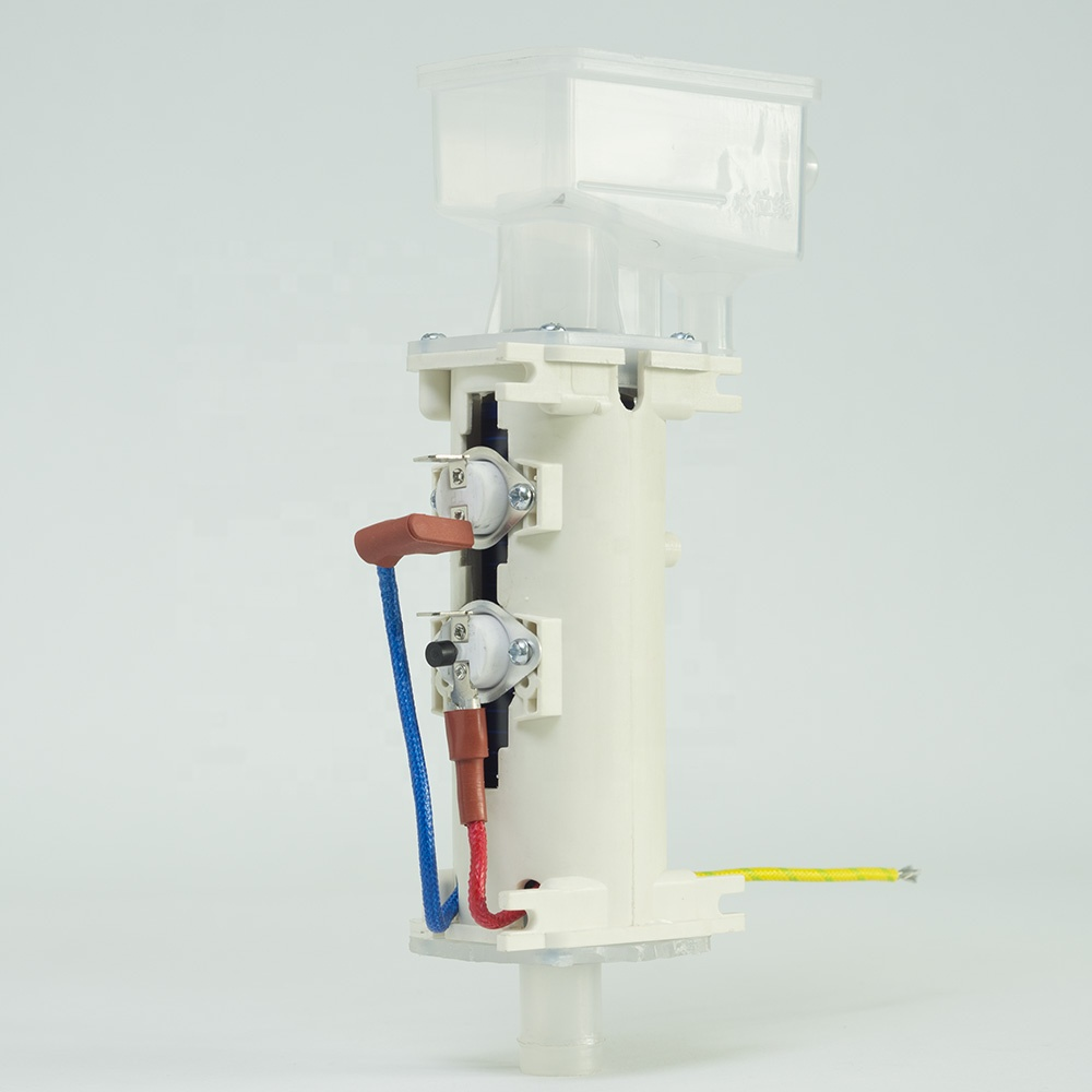 Boiler electric heating element with tank
