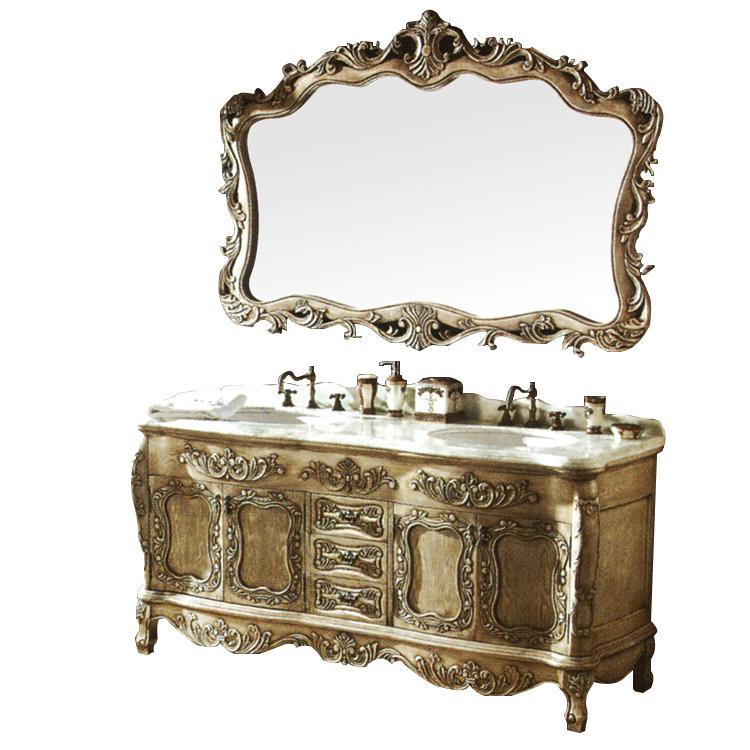 Antique Retro Large Solid Wood Bathroom Vanity Vintage European Rustic Double Sink Bathroom Vanity For Villa And Hotel Buy European Bathroom Vanity For Villa Antique Bathroom Vanities Rustic Bathroom Vanity Product On Alibaba Com