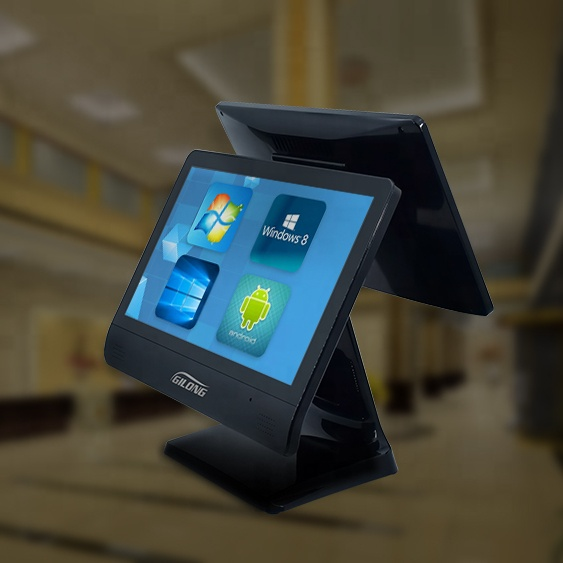 Pos Machine Dual Screen System For Touch Cash Register Machine