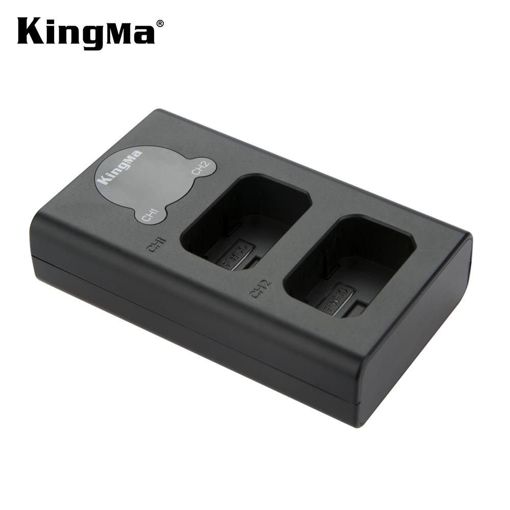 KingMa Dual USB Charger With LCD Display For NP-FW50 Battery And For Sony A5000 A5100 A6000 A6100 A6300 A6500 A7R A7S A7M2