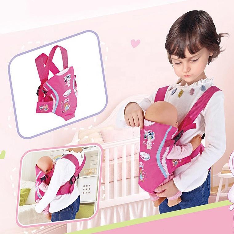 Детская игрушка, хлопковая парусиновая переноска для кукол, для передней или рюкзака