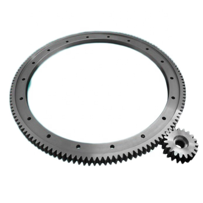 hobbing machine parts steel or aluminum rotating stage motion steel alloy ring shape round circular rack and pinion