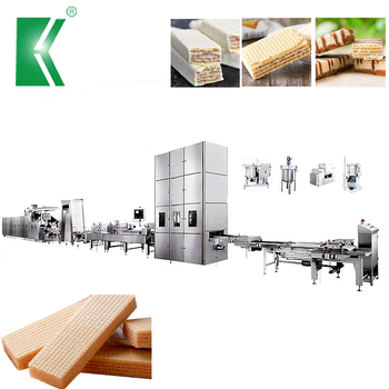 kehua automatic flat wafer machine production line for biscuit factory