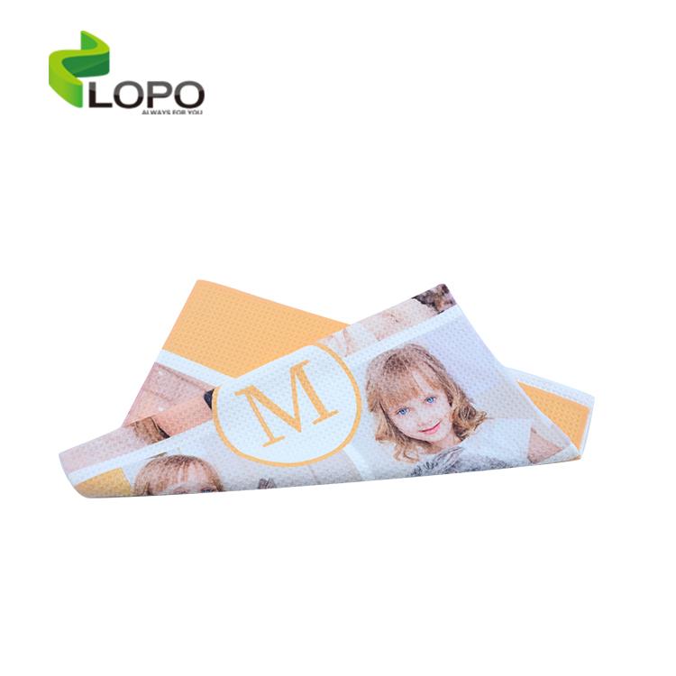 Новый материал сублимации из хлопково-полиэстеровой ткани с принтом полотенце 40*60 см