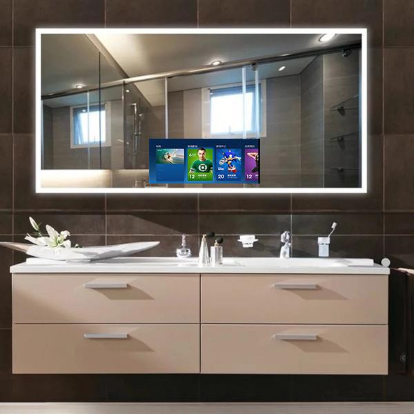 Shower Waterproof Magic Mirror Tv For Bathroom Buy Waterproof Magic Mirror Tv Shower Mirror Tv Waterproof Mirror Tv For Bathrooms Product On Alibaba Com