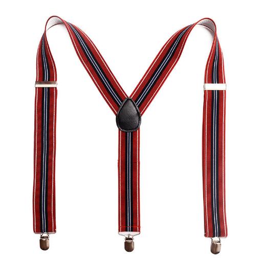 Модный дизайн 3,5 см полосатые Эластичные подтяжки для мужчин с умственным зажимом
