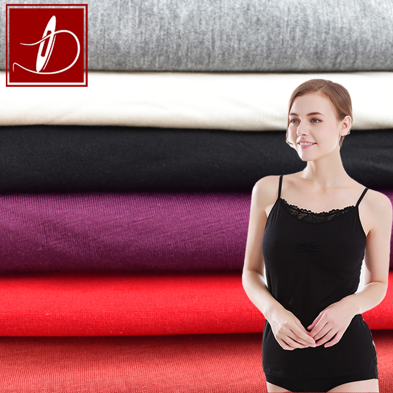 New arrival 40S modal fabric rayon single jersey 4 way stretch fabric knitting fabric for T-shirt briefs underwear