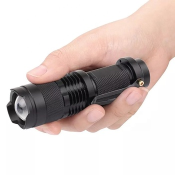 Amazon hot sale cheap sk68 zoom adjustable focus 3 modes best mini promotion gift portable small flashlight with pen clip