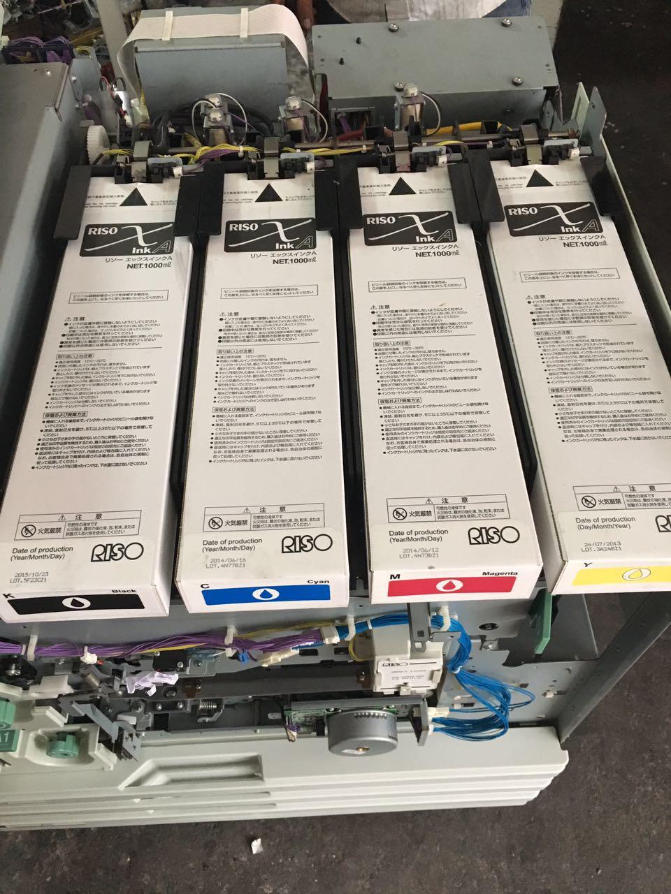 used risos comcolor inkjet printer EX9050 risographs printing machine copiers