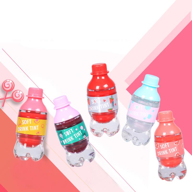 निजी लोगो उपलब्ध थोक चमक चमकदार मिनी पानी की बोतल आकार होंठ चमक