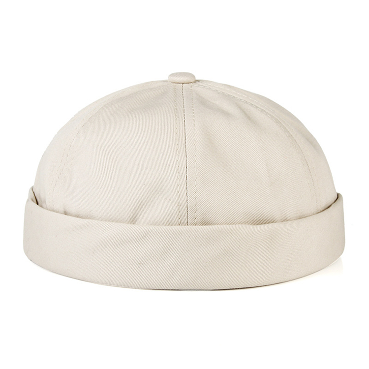 Wholesale Hot Sale Rolled Cuff Retro Brimless Sailor Cap Hat