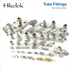 Tube Stainless Stainless Compression Fitting Swagelok Twin Ferrules Male Connector Compression Tube Ferrule Fittings 316 Stainless Steel 1/4 3/8inch NPT Threads