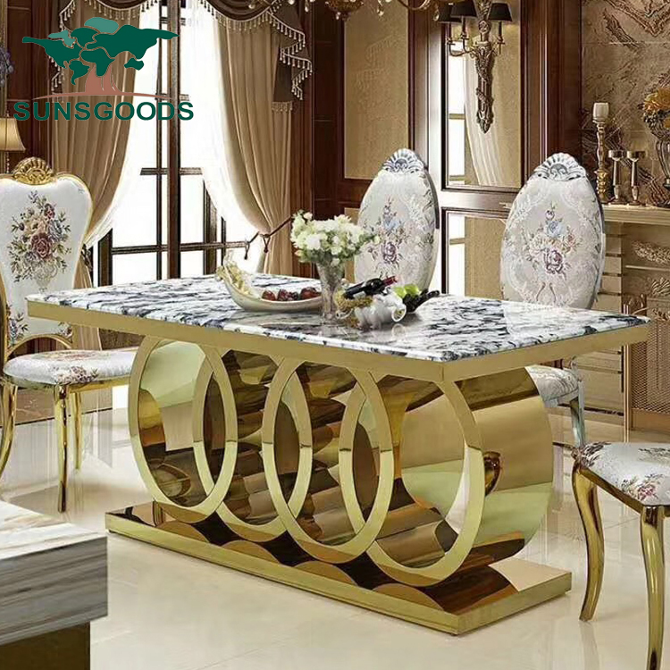 Stylish Gold Stainless Steel Marble Top 10 Seater Dining Table Buy 10 Seater Dining Table Gold Stainless Steel 10 Seaters Dining Table Marble Top 10 Seater Dining Table Product On Alibaba Com