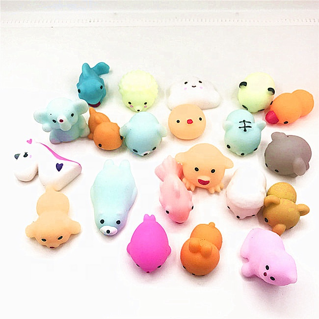 China Factory Supplier TPR Slow Rising Wholesale Squishies Rubber Mochi Squeeze Cute Mochi Squishies