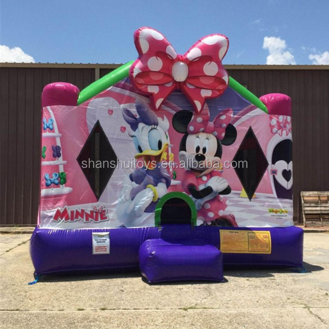 Lovely Mickey mouse bouncy castle kids inflatable bouncer castle for sale