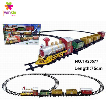Bo classic christmas toy train with music light electric bo train toy