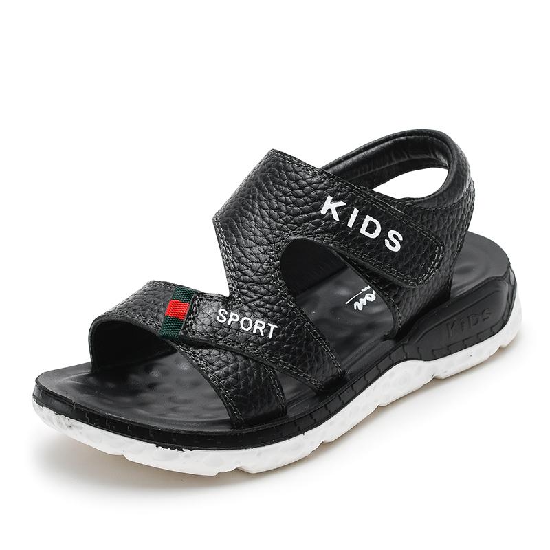 Стильные пляжные элегантные кожаные сандалии для мальчиков