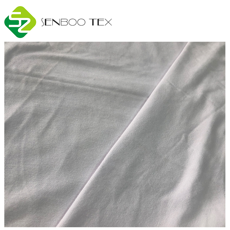 Anti-pilling 70% Bamboo 23% Cotton 7% Spandex jersey fabric Soft for T-shirt