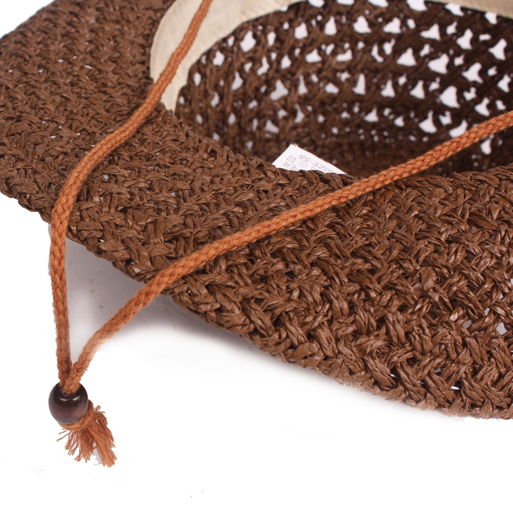 Handmade Straw Hat Men And Women Broad Brim Spring Summer Sunhat Travel Hat