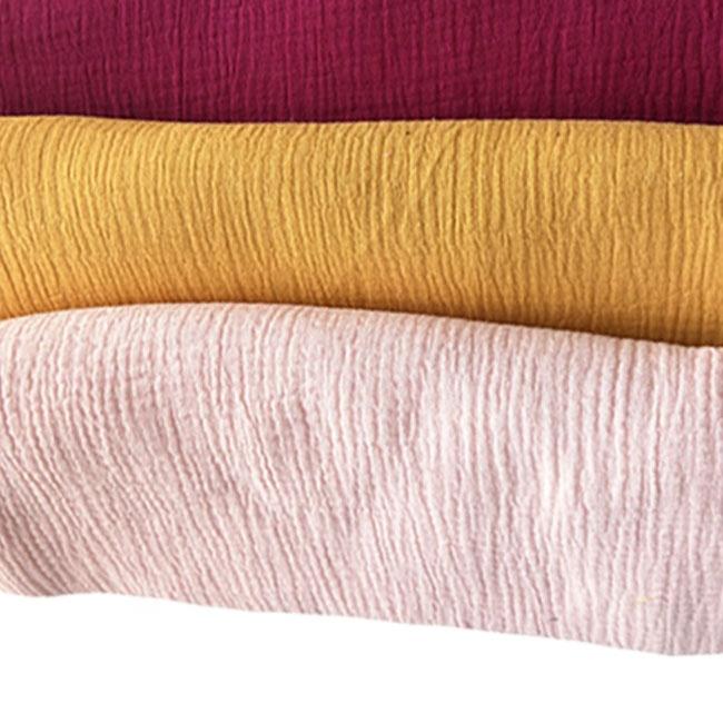 hot sale crinkle cotton gauze cotton crepe fabric